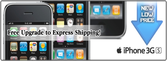 Free Upgrade to Express Shipping on iPhone 3GS (Unlocked)